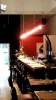 Bar de restaurant créé par Pascale Hébert