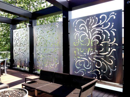 Murale métalique au restaurant Le Samuel