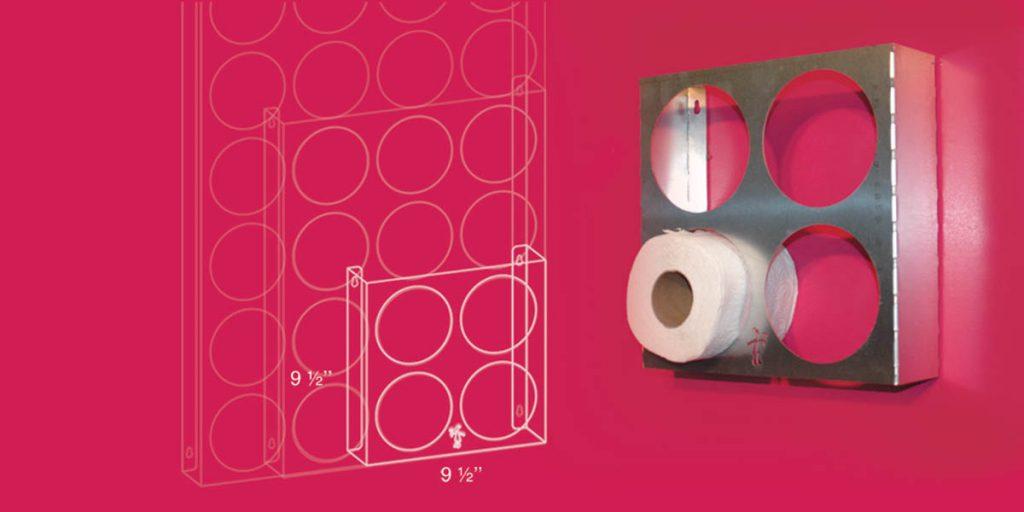 Support à papier de toilette 2x2
