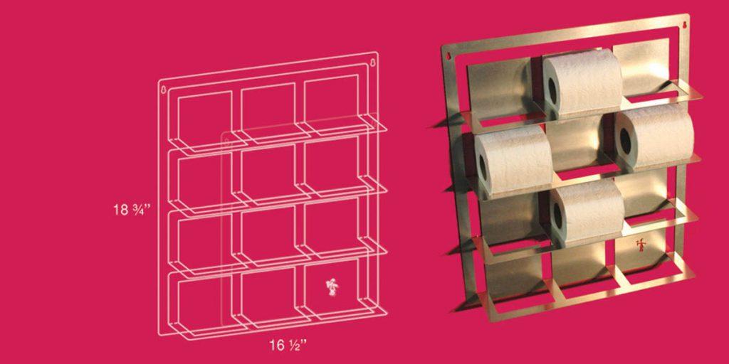 Support à papier de toilette 3x4